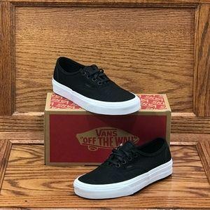 Vans Authentic Hemp Linen Black True White Shoes